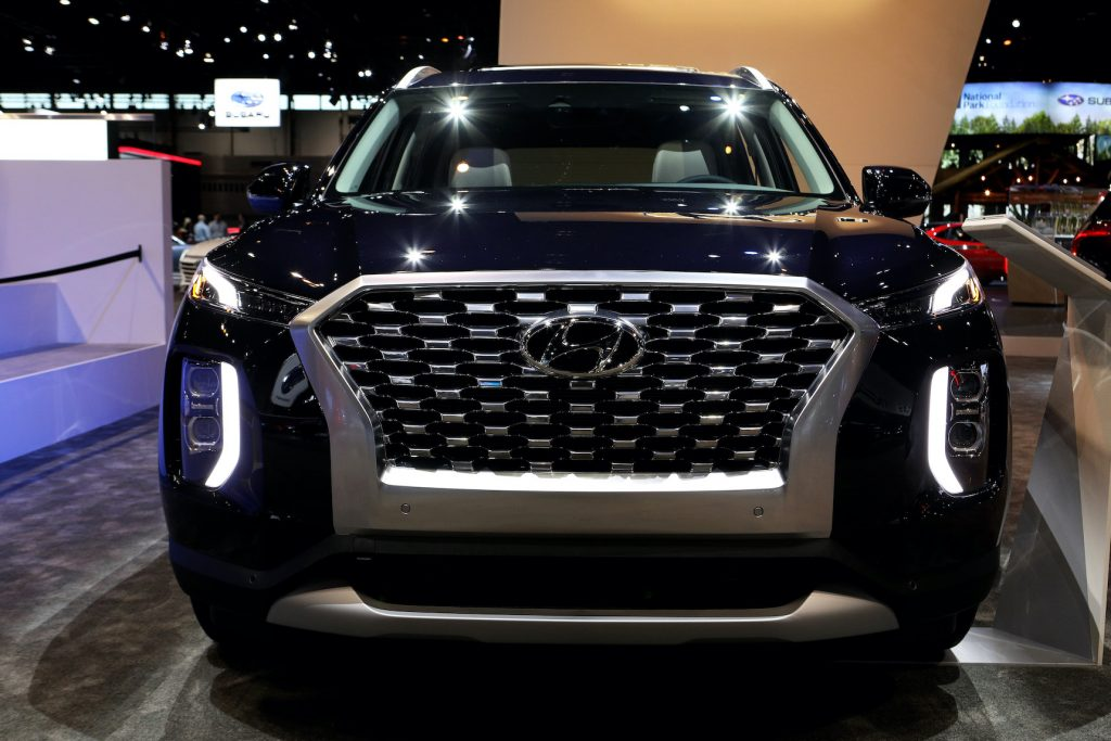 2020 Hyundai Palisade is on display at the 112th Annual Chicago Auto Show. It's a perfect example of how this Korean brand competes with Japanese car company rivals.