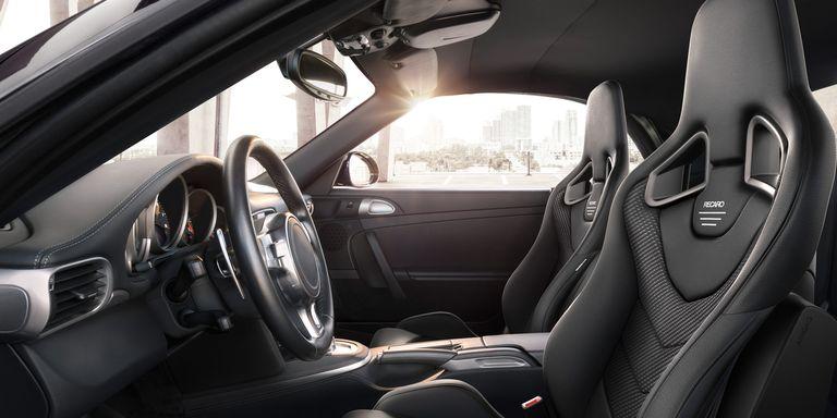 Recaro seats in a cockpit