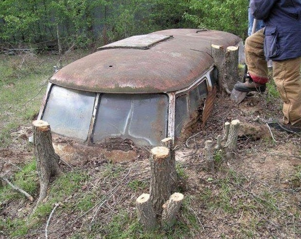 What's left of a Volkswagen Microbus