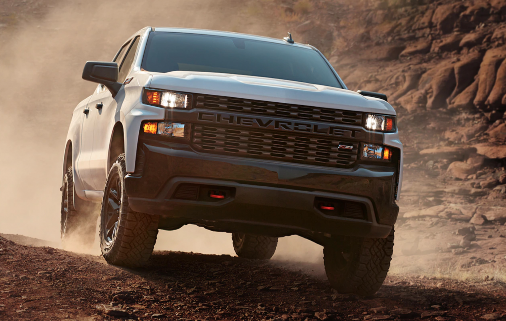2020 Chevy Silverado Trail Boss off-roading