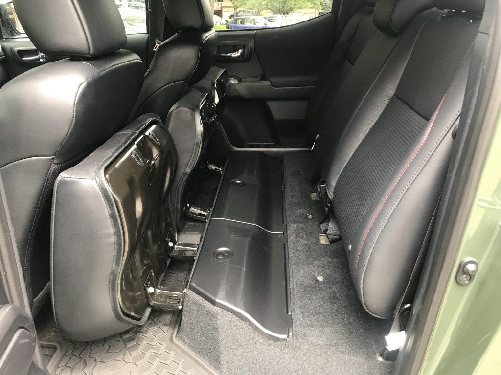 2020 Toyota Tacoma TRD Pro rear seat storage