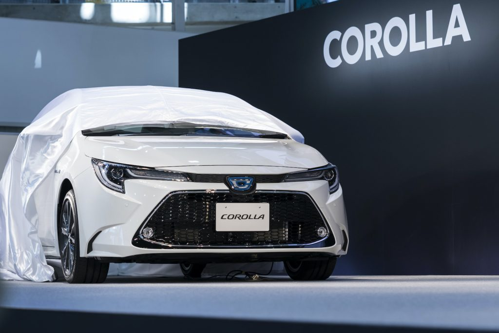 Toyota Motor Corp.'s Corolla sedan is unveiled during an event on September 17, 2019 in Tokyo, Japan