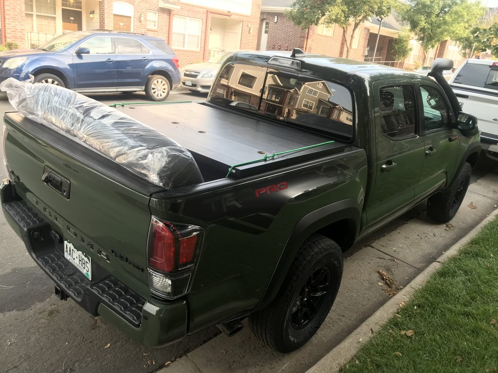 2020 Toyota Tacoma TRD Pro hauling a bed