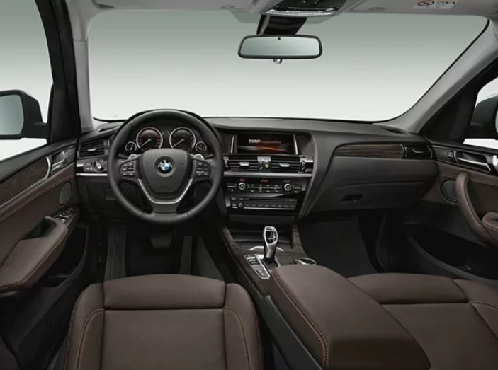 The inside of the X3 is handsome and durable.