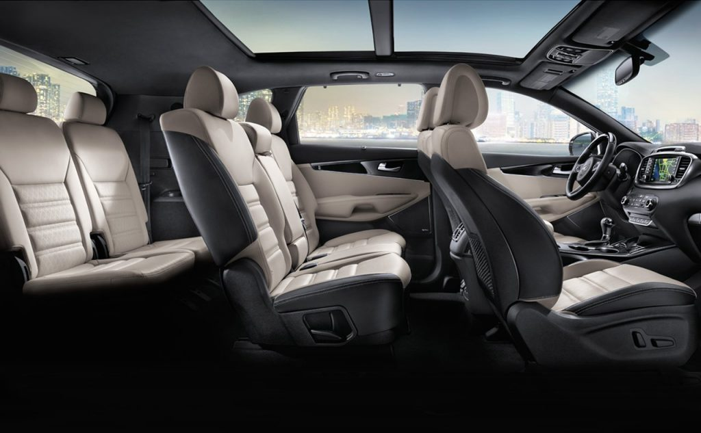The Kia Sorento has one of the most stylish interiors in the class.