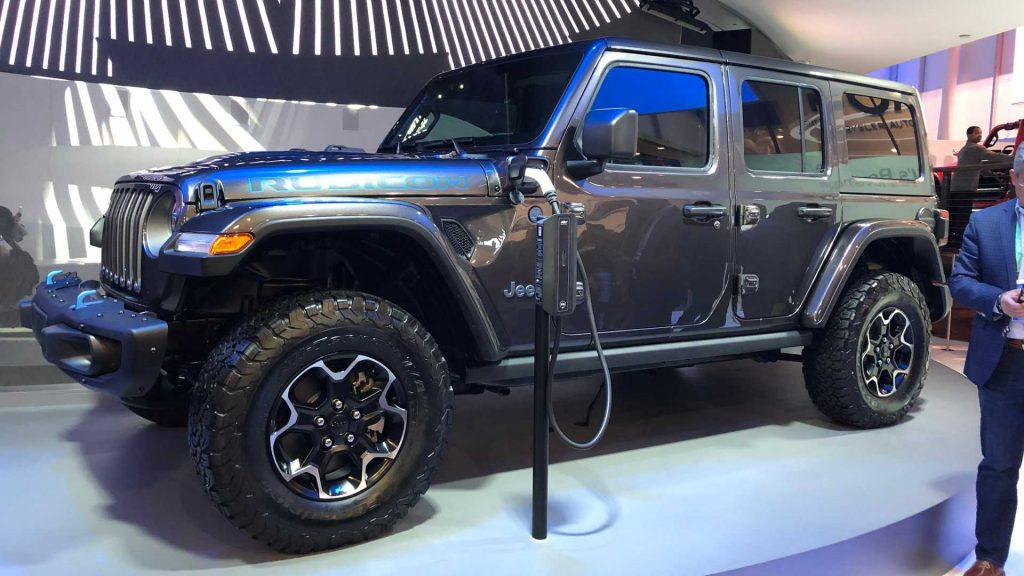 Jeep Wrangle 4xe PHEV on display at CES