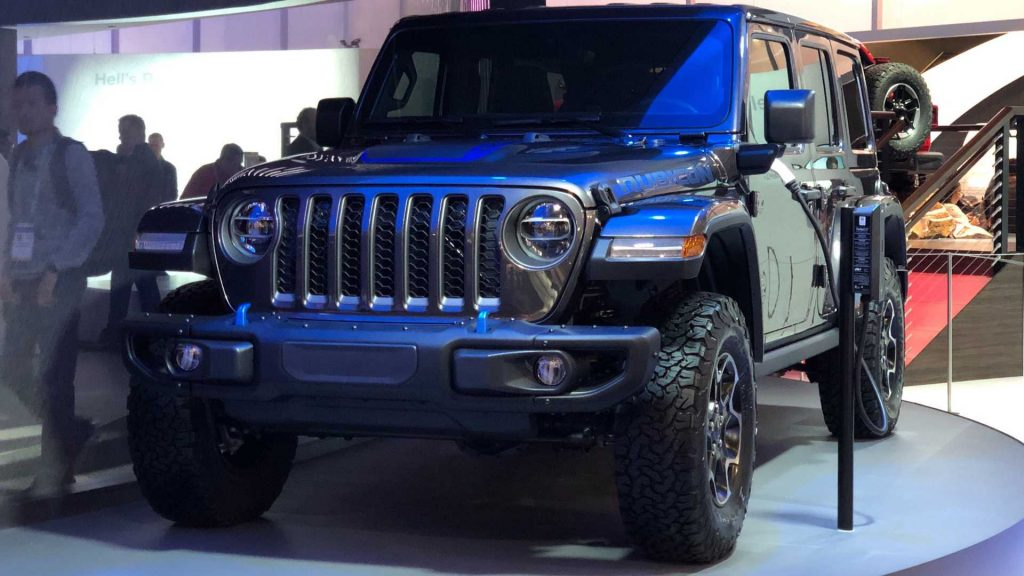 Jeep Wrangler 4xe on display at CES convention