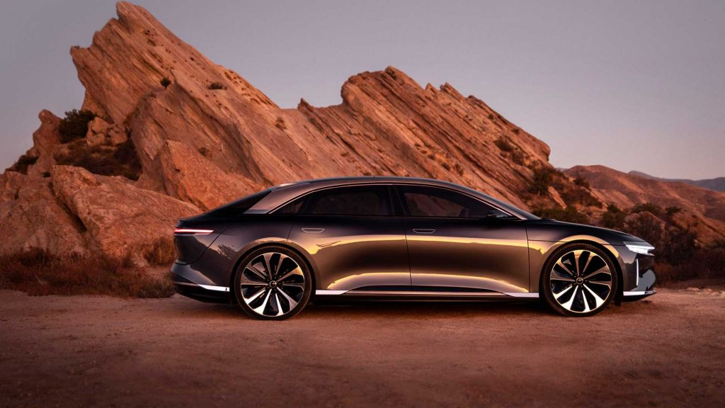A digital image of a Lucid Air.