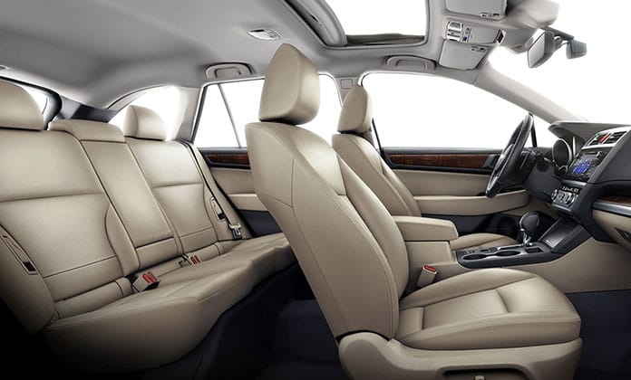 On the inside, the Outback is simplistic and comfortable.