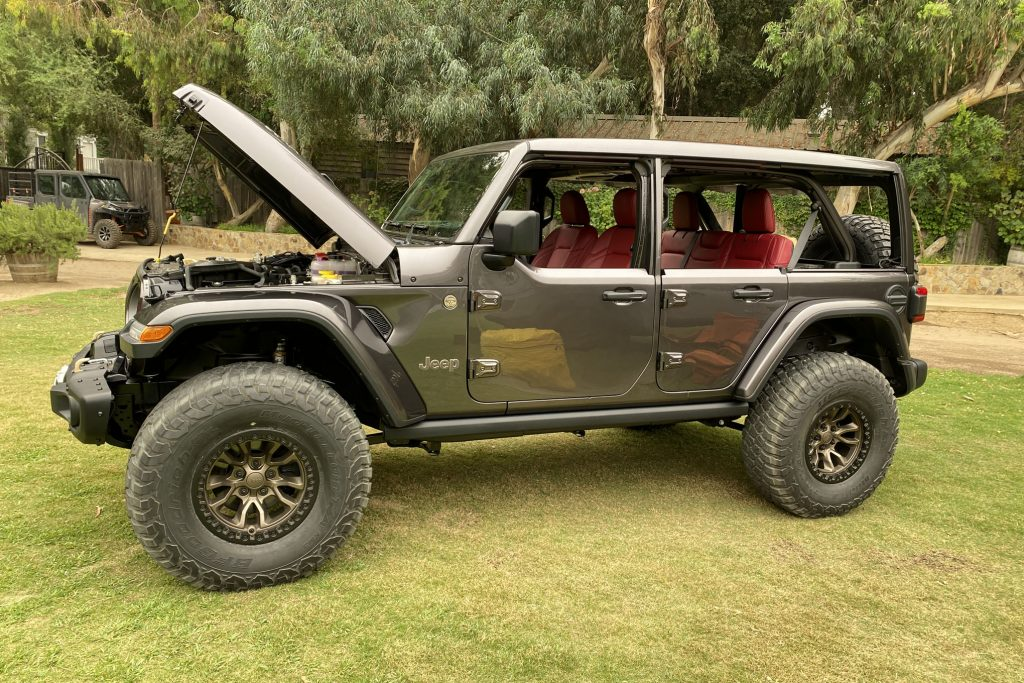 Jeep Wrangler 392 Concept parked in grass