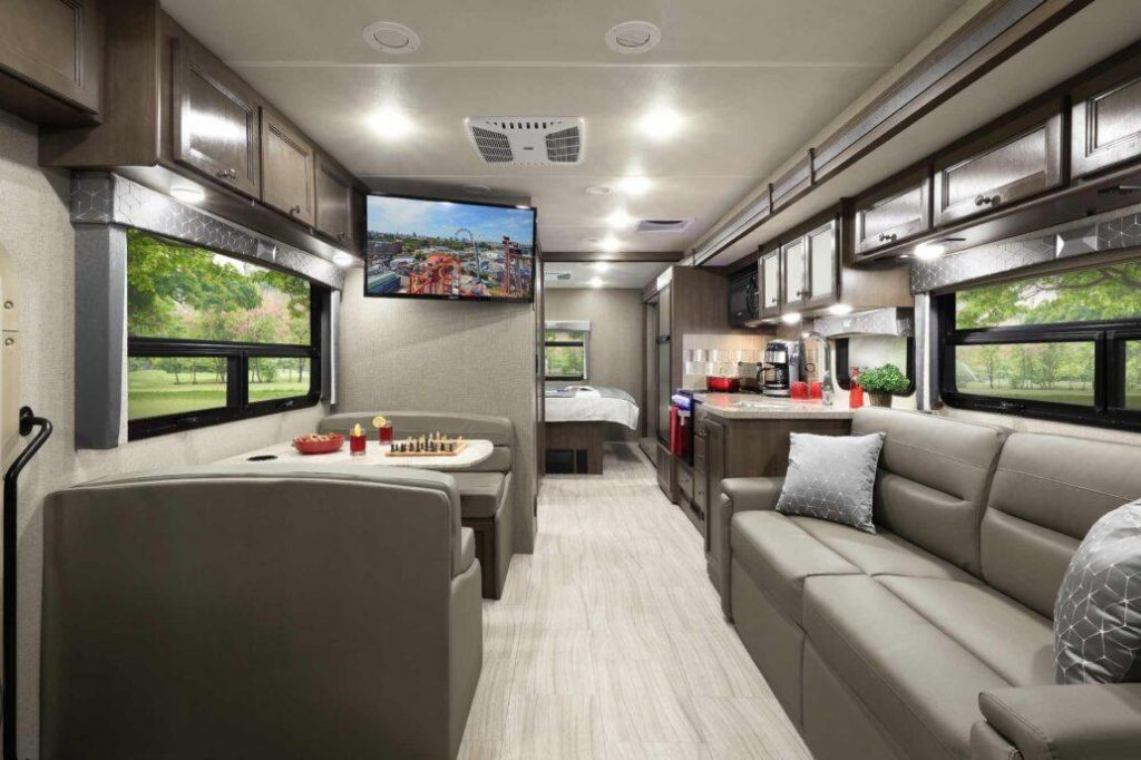 Interior of the Thor Hurricane motor coach RV