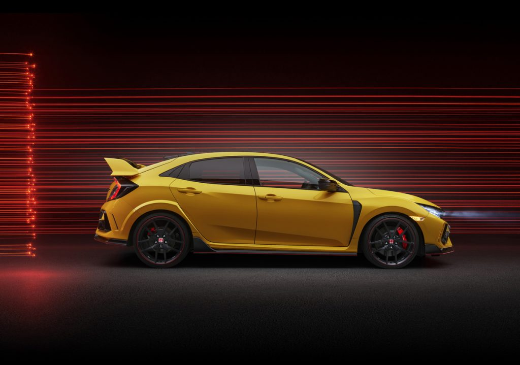 A 2021 Honda Civic Type R Limited Edition model .