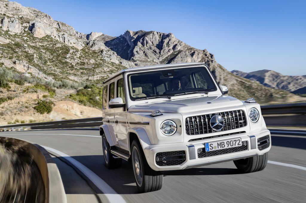 The Mercedes-AMG G63 is a six-figure SUV with an iconic square design.