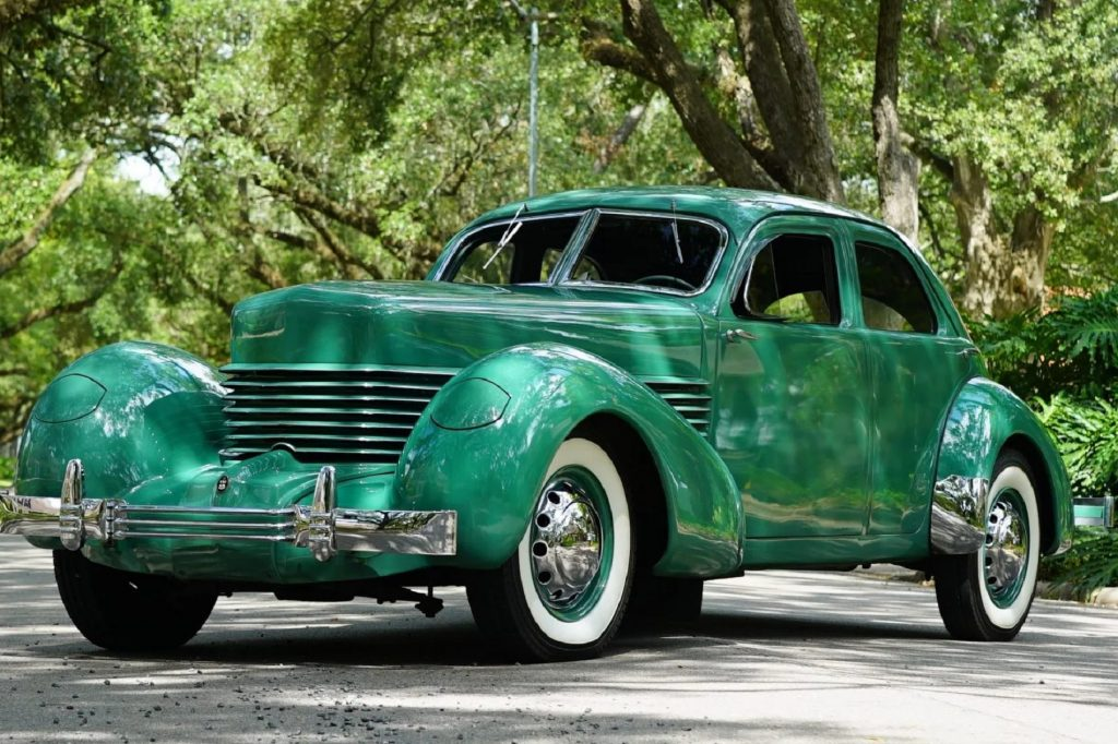A green 1936 Cord 810 Westchester