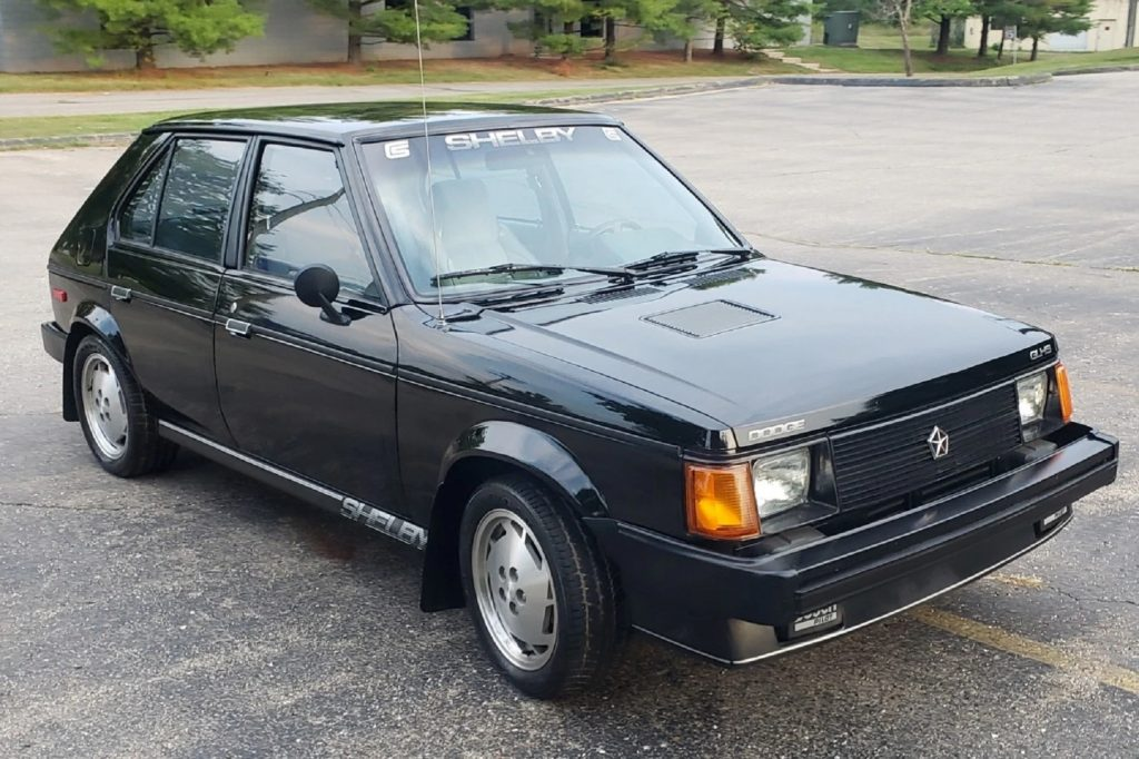 A black 1986 Dodge-Shelby Omni GLH-S