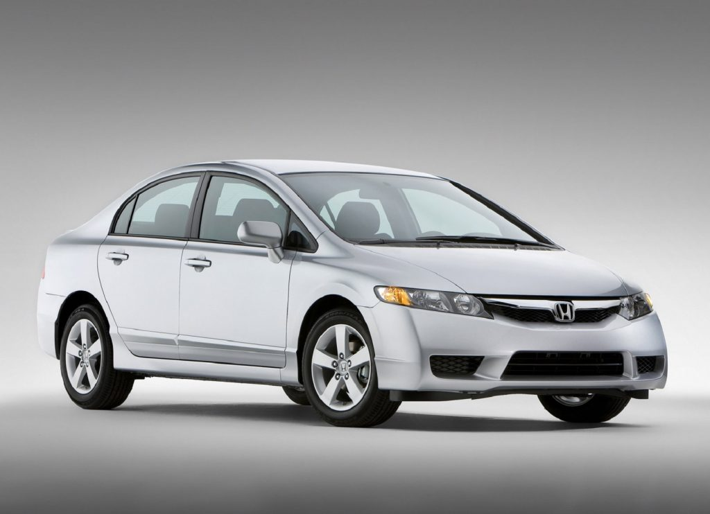 A silver 2009 Honda Civic sedan