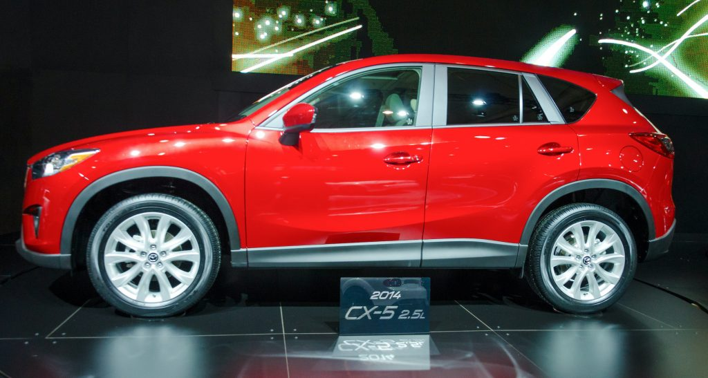 Exhibition of the 2014 CX-5 during the Toronto's International Auto Show 2013.