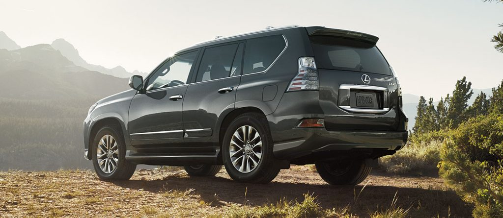A grey 2020 Lexus GX off-road.