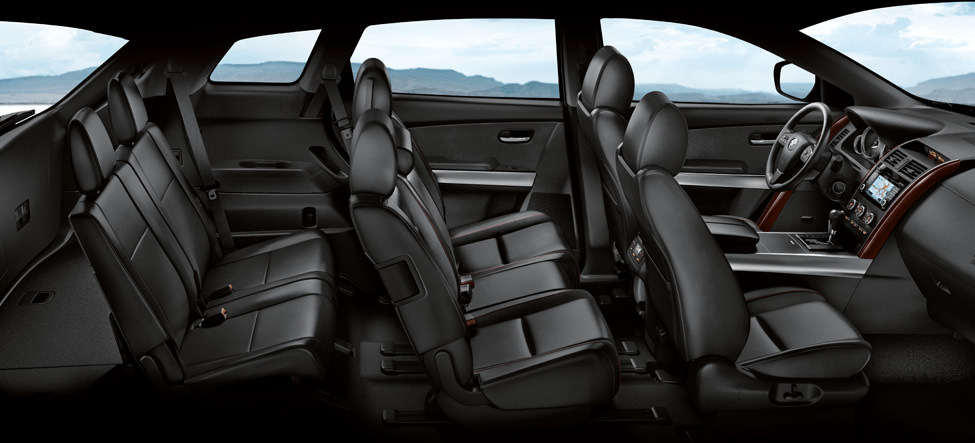 A 2015 Mazda CX-9 with leather seats.