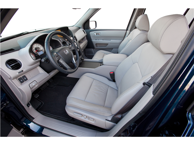 The Honda Pilot has a comfortable and welcoming interior.