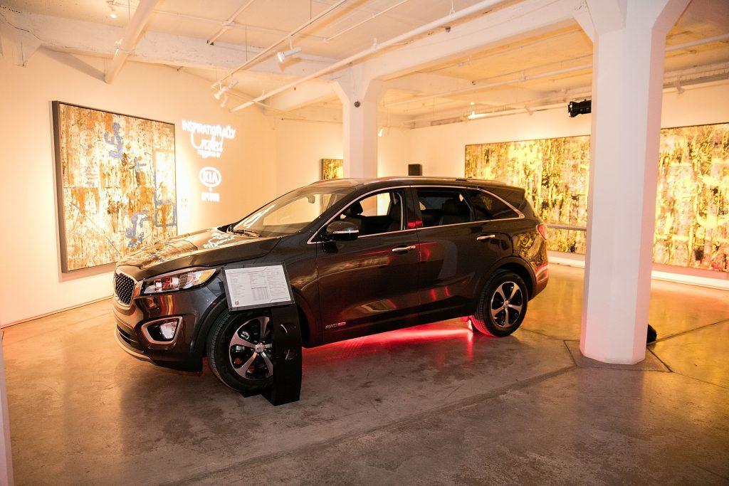 A 2016 Kia Sorento on display