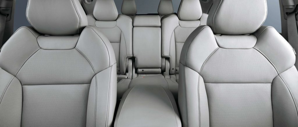 A front-view of the 2016 Acura MDX's interior.