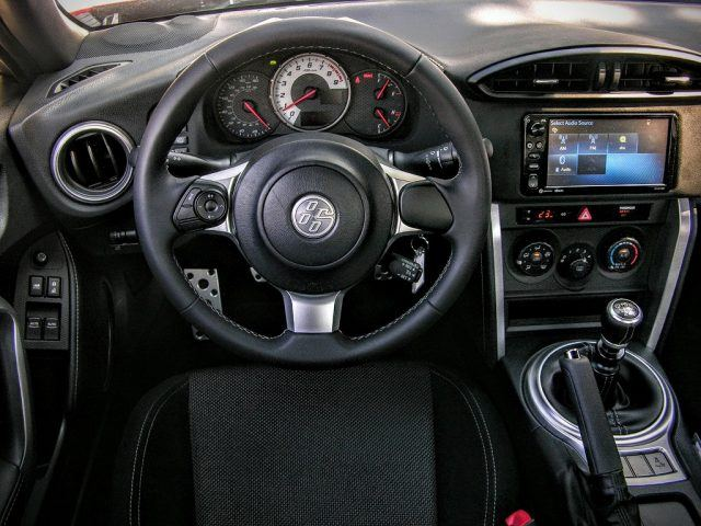 The inside of the 2017 86 features a black interior.