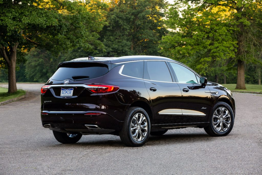 2020 Buick Enclave Avenir from the back view