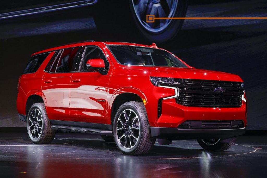 2021 Chevy Tahoe on display