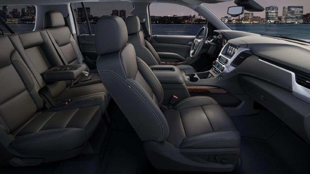 The front 2 rows of the 2020 GMC Yukon