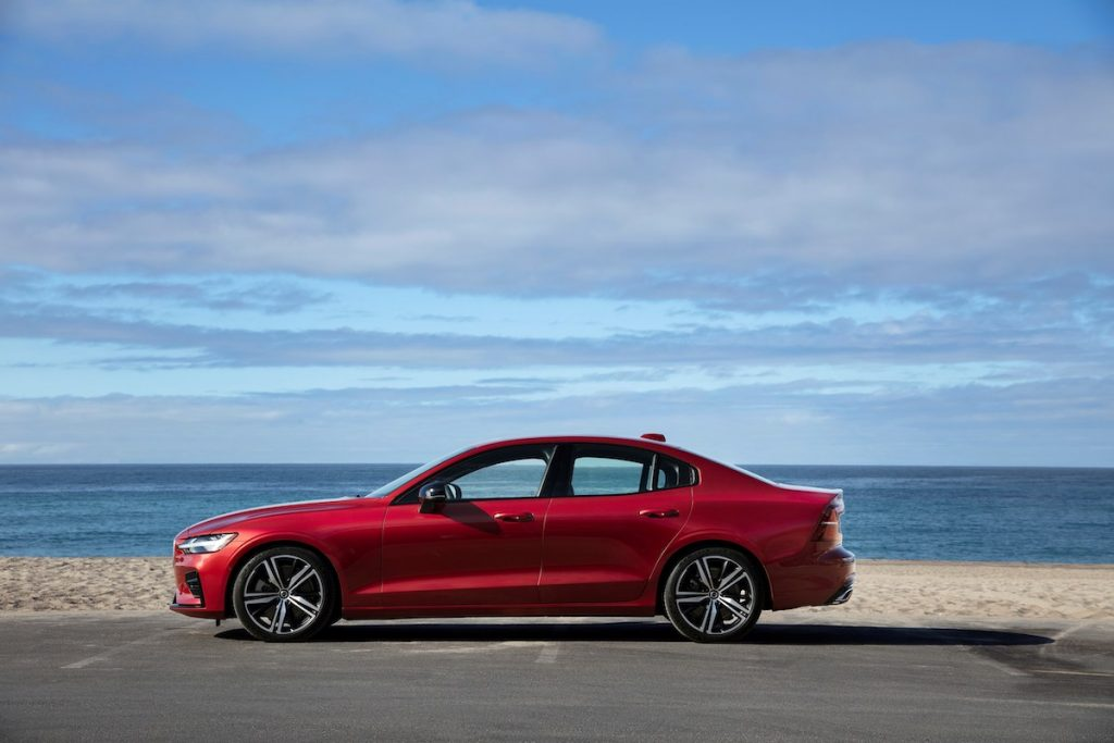 New Volvo S60 R-Design exterior by the beach