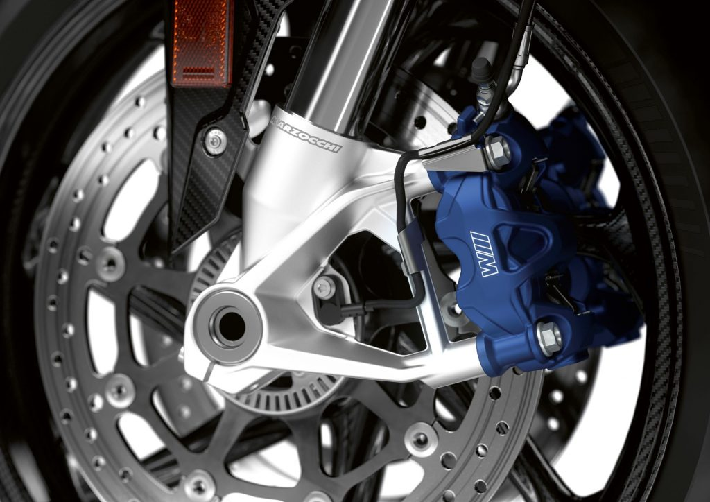 The 2021 BMW M 1000 RR's M-branded brakes