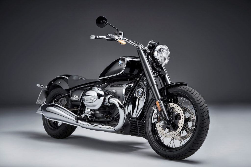 The black-and-chrome-trimmed 2021 BMW R18 First Edition