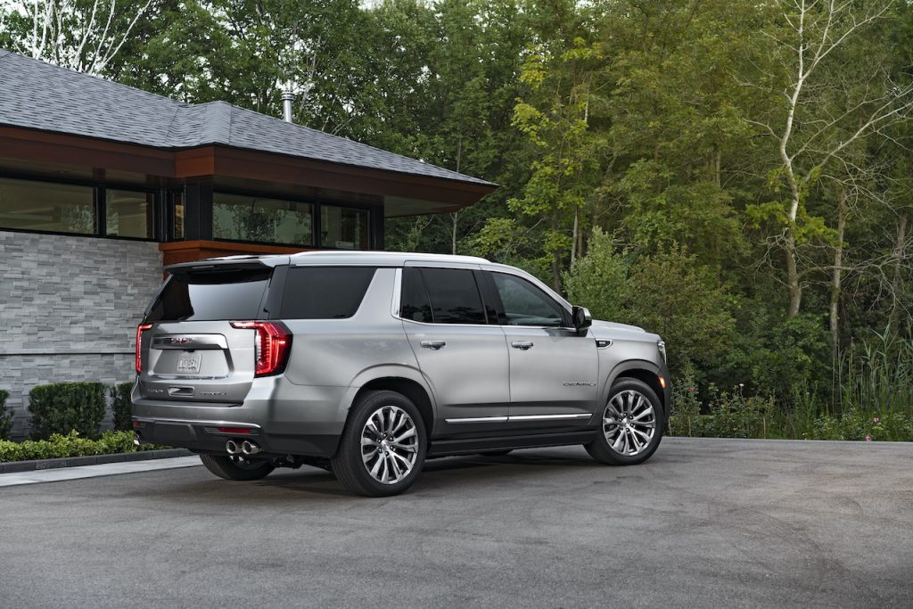 The Yukon is GMC's full-size SUV and competes with the likes of the Chevy Tahoe.