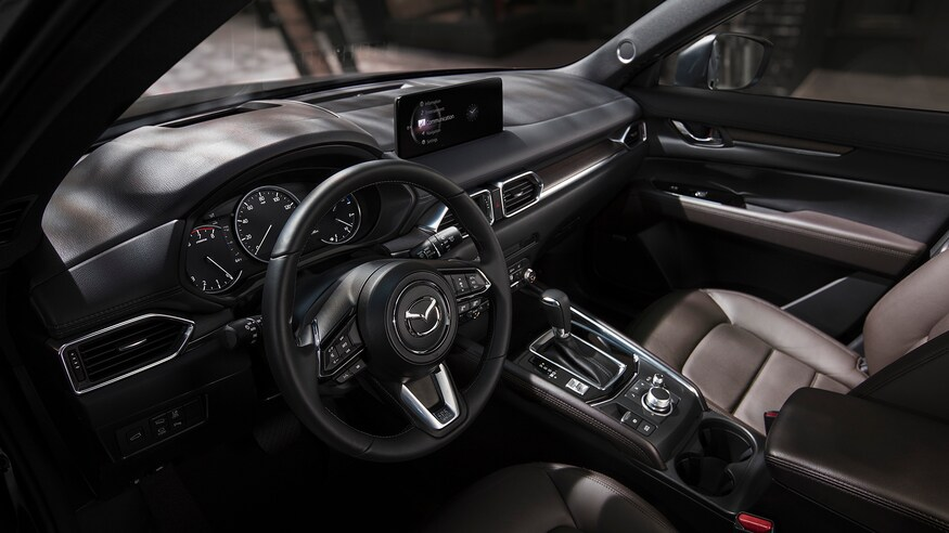 Cockpit area of the 2021 Mazda CX-5