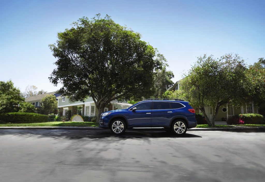 2021 Subaru Ascent parked outside of a house
