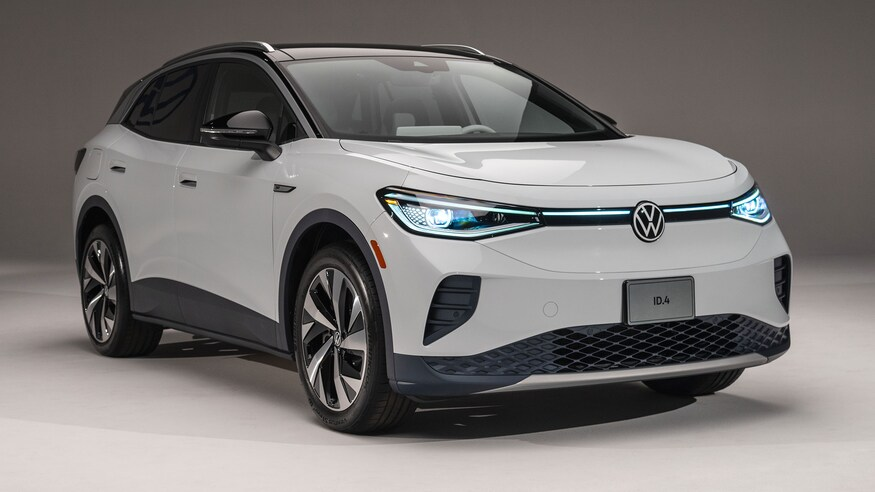 2021 Volkswagen ID.4 on display