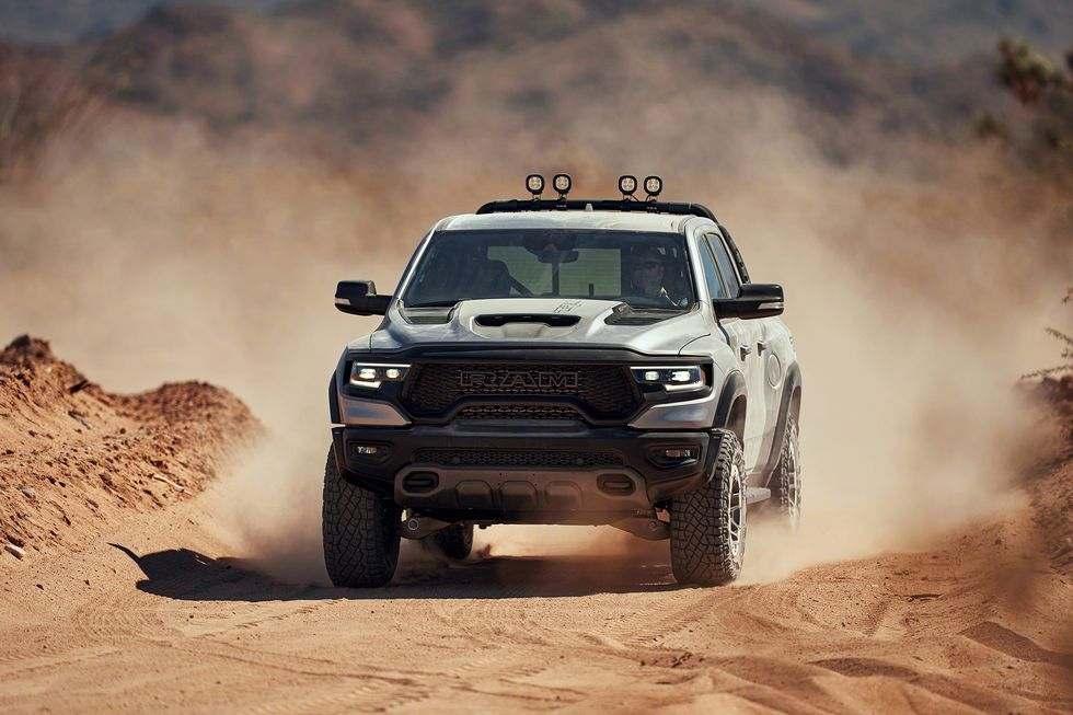 2021 Ram 1500 TRX racing through sand