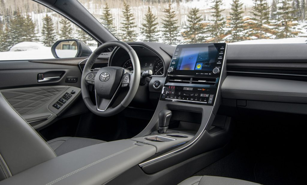 The front seats of a 2021 Avalon.