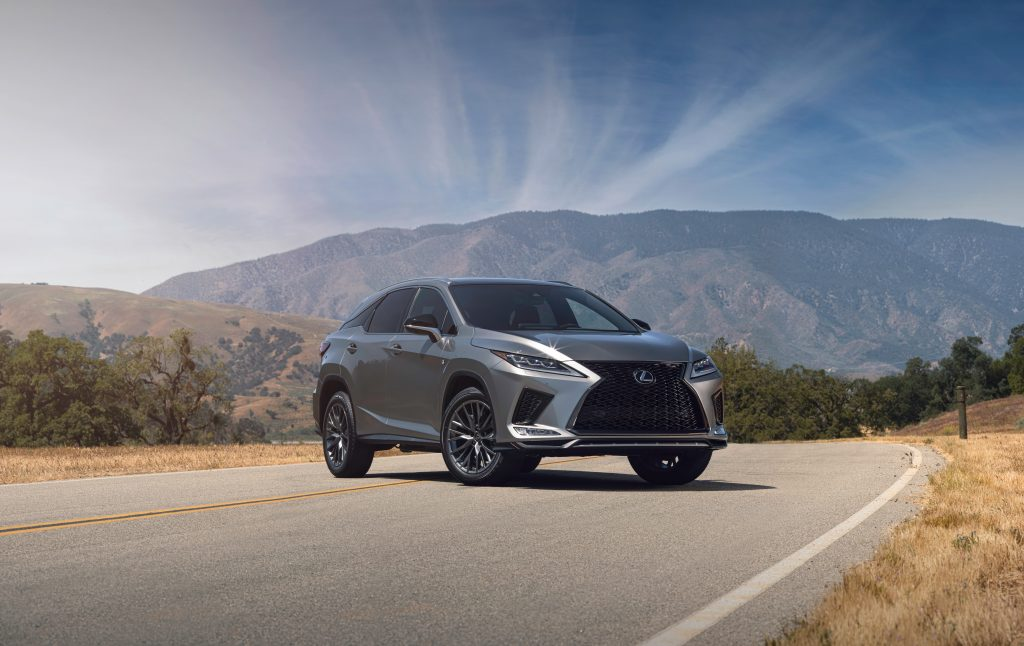 2021 Lexus RX in the middle of the road