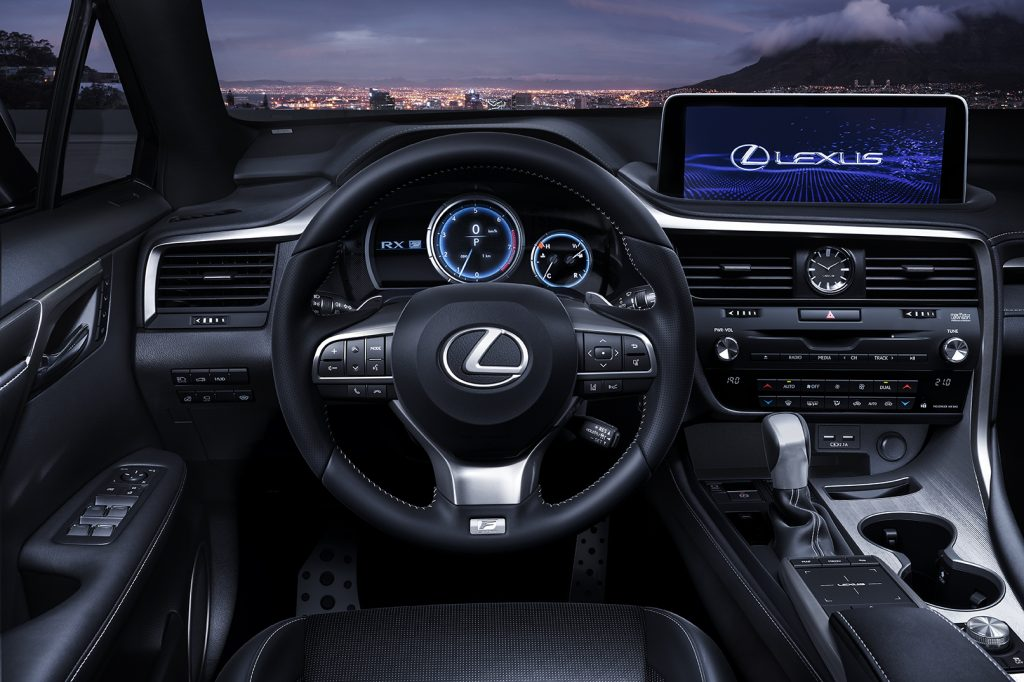 Close up of the 2021 Lexus RX's cockpit area.