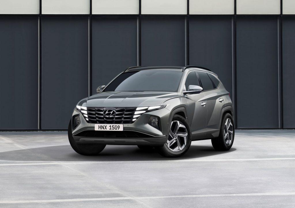 A gray 2022 Hyundai Tucson