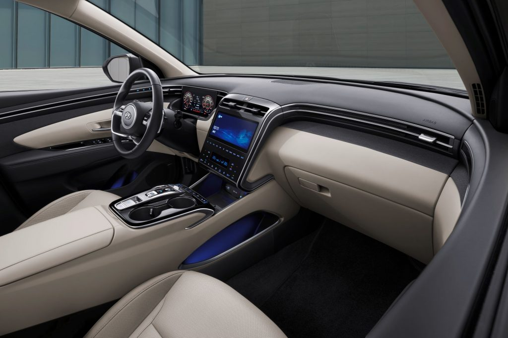 The interior of the 2022 Hyundai Tucson