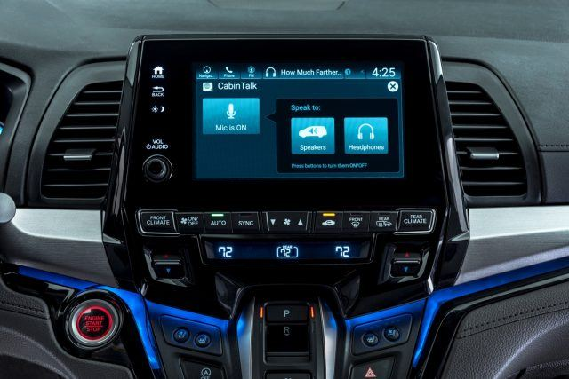 The Odyssey has sharp, user-friendly center display screen.