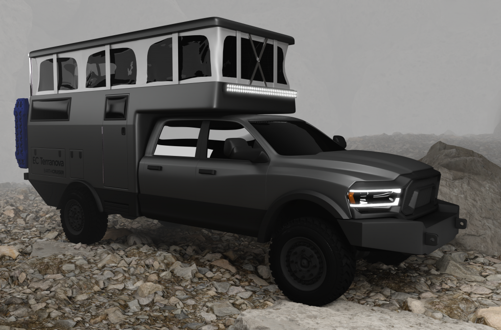 EarthCruiser TerraNova Expedition camper RV rendering