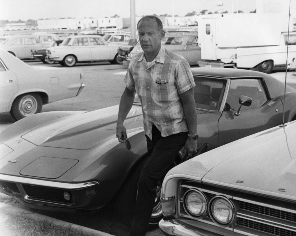 "Apollo 11 astronaut Edwin ""Buzz"" Aldrin arrives at the flight crew training building of the NASA Kennedy Space Center in Florida, one week before the nation�s first lunar landing mission. at the Kennedy Space Center"