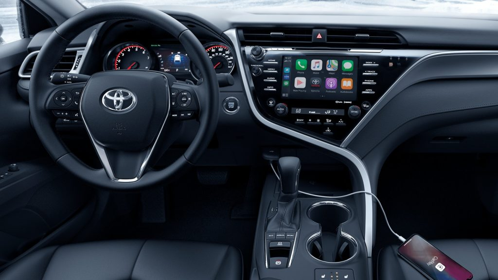 The 2020 Camry provides a comfortable, relaxed cabin. filled with tech.