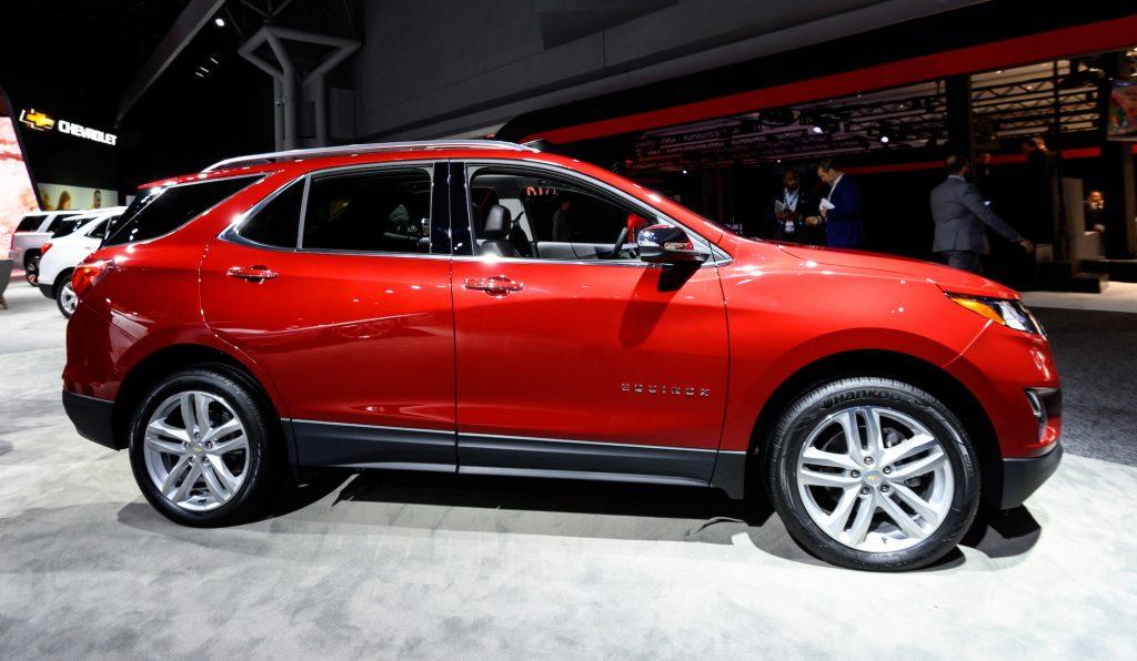 Chevrolet Equinox seen at the New York International Auto Show