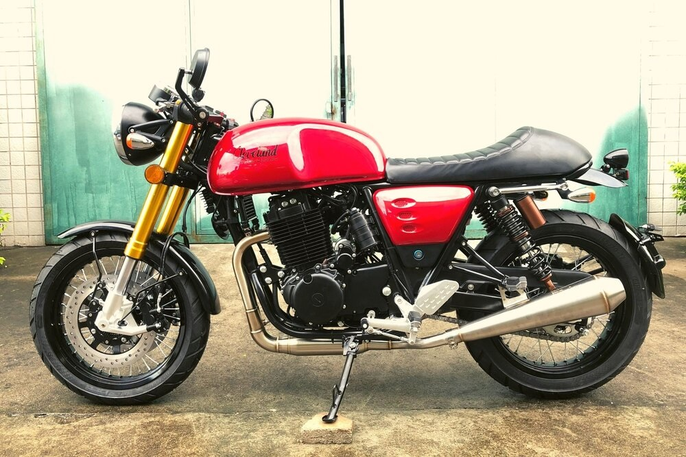 A red Cleveland CycleWerks Ace 1.5