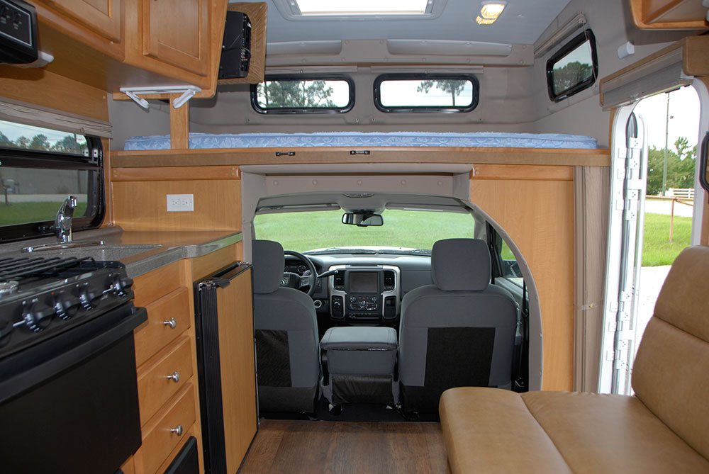interior would detail and pass through into the cabin of the Bengal camper RV off-road truck